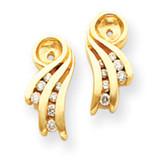 Diamond Earring Jackets Mounting 14k Gold, MPN: XJ27