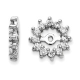 Earring Jacket 14k White Gold AAA Quality Diamond, MPN: XJ2WAAA, UPC: 883957115177