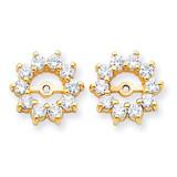 Diamond Earring Jacket Mountings 14k Gold XJ46 UPC: 883957115658