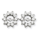 Diamond Earring Jacket Mountings 14k White Gold XJ46W UPC: 883957336657