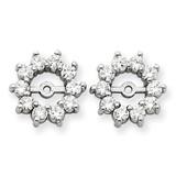 Diamond Earring Jacket Mountings 14k White Gold XJ46W UPC: 883957336657