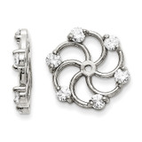 Earring Jacket 14k White Gold A Quality Diamond, MPN: XJ5WA, UPC: 883957341231