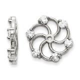 Earring Jacket 14k White Gold AAA Quality Diamond, MPN: XJ5WAAA, UPC: 883957115788