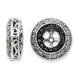 Black & White Diamond Earring Jackets 14k White Gold XJ65A UPC: 886774126814
