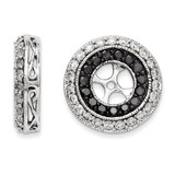 Black & White Diamond Earring Jackets 14k White Gold XJ68A UPC: 886774126845