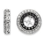 Black & White Diamond Earring Jackets 14k White Gold XJ68A UPC: 886774126845