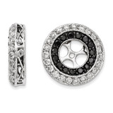 Black & White Diamond Earring Jackets 14k White Gold XJ69A UPC: 886774126852