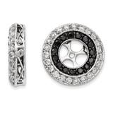 Black & White Diamond Earring Jackets 14k White Gold XJ69A UPC: 886774126852