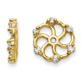 Earring Jacket 14k Gold AA Quality Diamond, MPN: XJ6AA, UPC: 883957115795