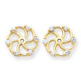 Earring Jacket 14k Gold VS Quality Diamond XJ6VS UPC: 883957115801