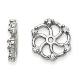 Earring Jacket 14k White Gold AAA Quality Diamond, MPN: XJ6WAAA, UPC: 883957115825
