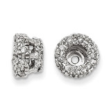 Diamond Earring Jacket 14k White Gold XJ70A UPC: 886774126869