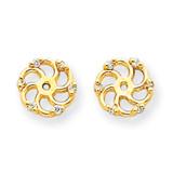 Earring Jacket 14k Gold A Quality Diamond XJ7A UPC: 883957115832