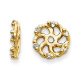Earring Jacket 14k Gold AA Quality Diamond, MPN: XJ7AA, UPC: 883957115849