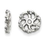 Earring Jacket 14k White Gold AAA Quality Diamond, MPN: XJ7WAAA, UPC: 883957115870