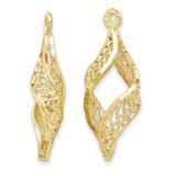Filigree Swirl Earring Jackets 14k Gold Polished XY656 UPC: 730703584711