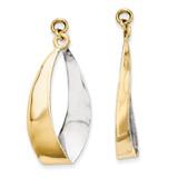 Rhodium Reversible Dangle Earring Jackets 14k Gold Polished XY661 UPC: 730703000488