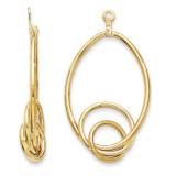 Fancy Teardrop Earring Jackets 14k Gold Polished Y821J UPC: 886774135816