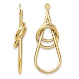 Fancy Teardrop Earring Jackets 14k Gold Polished Y822J UPC: 886774135823