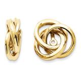 Love Knot Earring Jackets 14k Gold Polished Z385J UPC: 886774138237