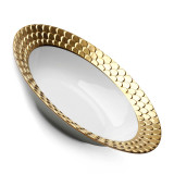 L'Objet Aegean Rimmed Serving Bowl - Gold MPN: AG5960