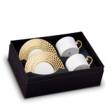 L'Objet Aegean Tea Cup Saucer (Box Of 2) - Gold MPN: AG5525