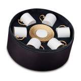 L'Objet Aegean Espresso Cup Saucer (Box Of 6) - Gold MPN: AG5555
