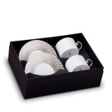 L'Objet Aegean Tea Cup Saucer (Box Of 2) - Platinum MPN: AG6525