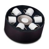 L'Objet Aegean Espresso Cup Saucer (Box Of 6) - Platinum MPN: AG6555
