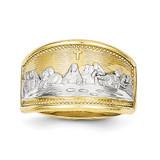 Ladies Last Supper Ring 10k Gold & Rhodium 10C1292