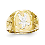 Men's Eagle Ring 10k Gold & Rhodium 10C1301