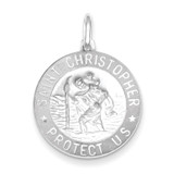 St. Christopher Medal Sterling Silver QC2809