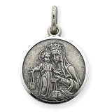 Our Lady of Mount Carmel Medal Sterling Silver QC3575