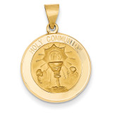 Holy Communion Medal Pendant 14k Gold REL168