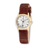 Ladies Charles Hubert IP-plated Stnlss Stl Leather Band 29mm Watch XWA2648