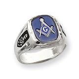 Men's Masonic Ring 14k White Gold Y1589M