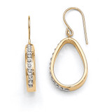 Teardrop Earrings 14k Gold with Diamonds DF263