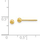 3mm Ball Post Earrings 24k Gold-plated 10E