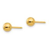 5mm Ball Earrings 14k Gold 3E