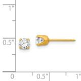 5mm Cubic Zirconia Earrings 14k Gold 64E