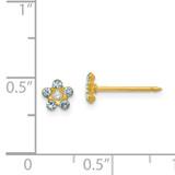 March Crystal Birthstone Earrings 14k Gold 783E