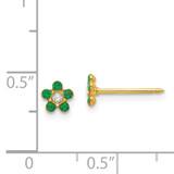 May Crystal Birthstone Earrings 14k Gold 785E