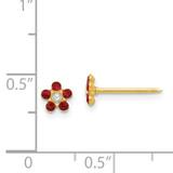 July Crystal Birthstone Earrings 14k Gold 787E
