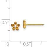 November Crystal Birthstone Earrings 14k Gold 791E