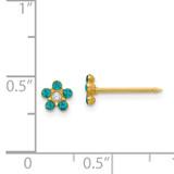 December Crystal Birthstone Earrings 14k Gold 792E