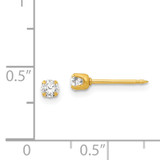 April Crystal Birthstone Earrings 24k Gold-plated 84E