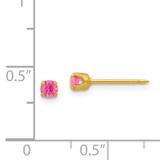 October Crystal Birthstone Earrings 24k Gold-plated 90E