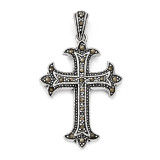 Marcasite Cross Pendant Sterling Silver QC5280