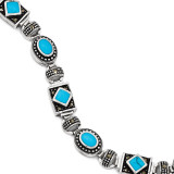 Turquoise and Marcasite Bracelet Sterling Silver QH1035-7