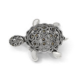 Marcasite Turtle Pin Sterling Silver QP117